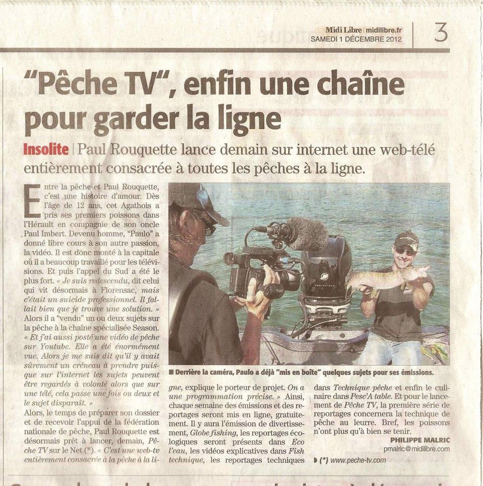 Pêche TV Jimmy Maistrello moniteur gudie peche savoie