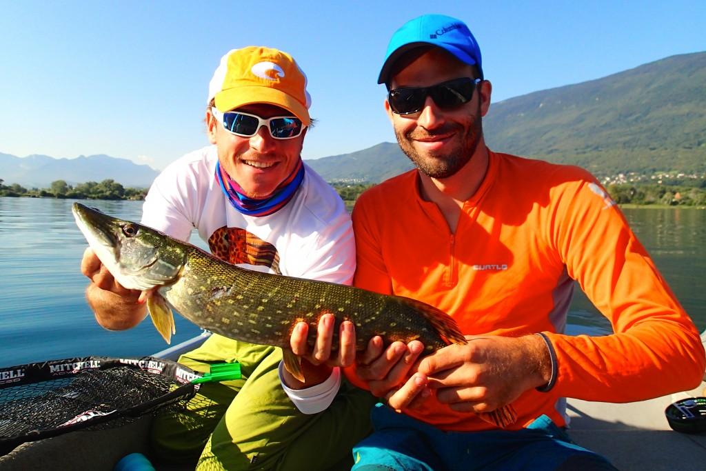 journée de pêche au lac du Bourget
